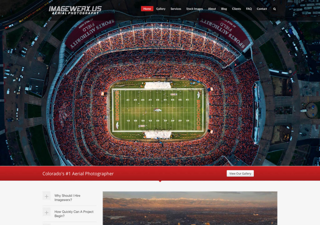 Aerial Photography Website Design