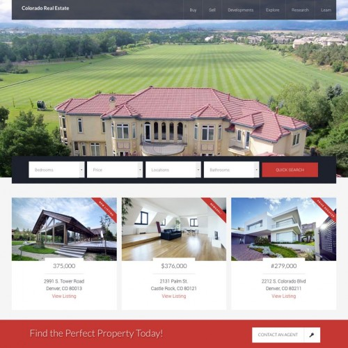 Real Estate WordPress Design