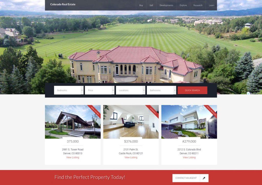 Real Estate WordPress Design