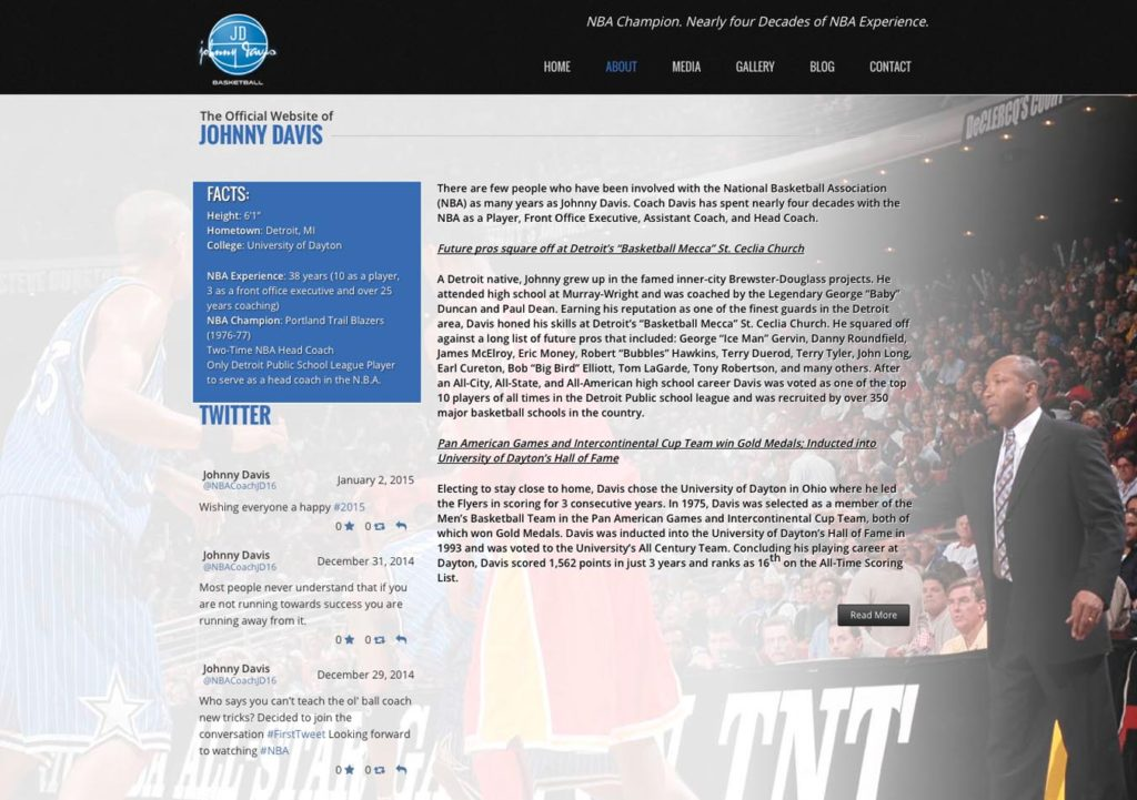 Johnny Davis Official website