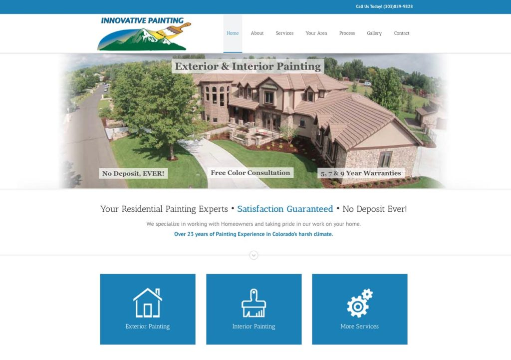 Painting Contractor Website Design