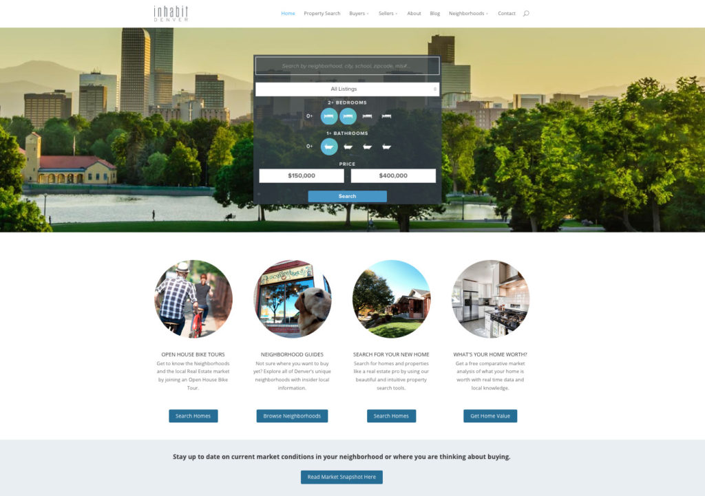 home web design. WordPress Real Estate Website Denver Design  Developer