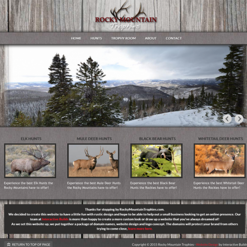 Outfitter Website Design